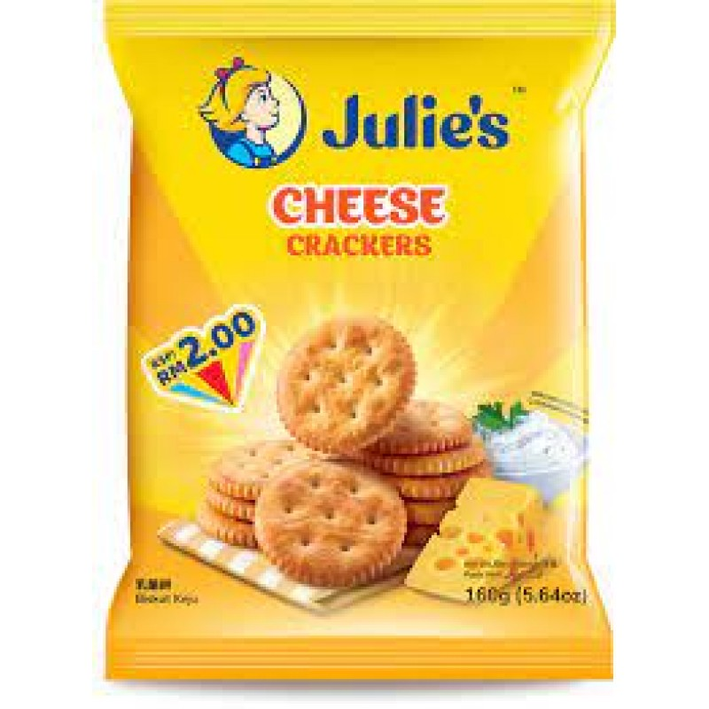JULIE'S CHEESE CRACKERS 160G