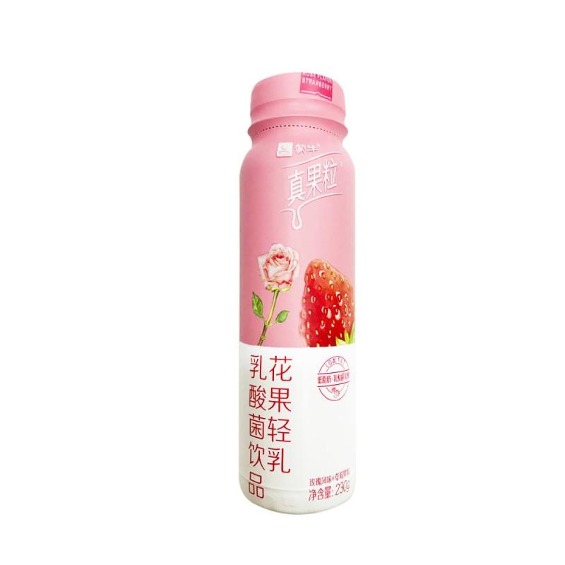 Mengniu Rose & Strawberry Flavor Yogurt (230g)