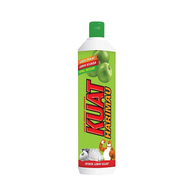 Kuat Harimau Dishwashing Liquid - Apple (900ml)